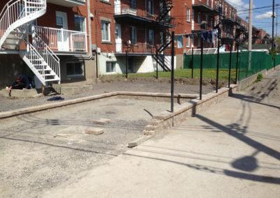 Avant (Pose de pavé uni à Montréal-Est) - Daniel Robert Terrassement Excavation et Déneigement - Montréal