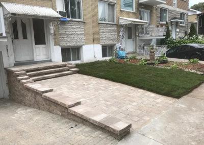 Pavement d'entrée de maison, pose de pavé uni - Terrassement Daniel Robert de Montréal-Est